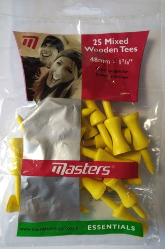 Graduated Wooden Tees Holz Abstandstees 20-er Pack 1 7/8 inch 48 mm Gelb