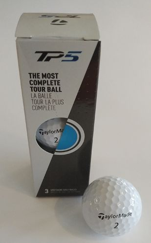 Taylor Made Tour Preferred TP5 Golfbälle 3-er Sleeve Weiß
